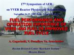17 th Symposium of AER on VVER Reactor Physics and Reactor Safety