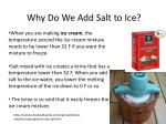 Why Do We Add Salt to Ice?