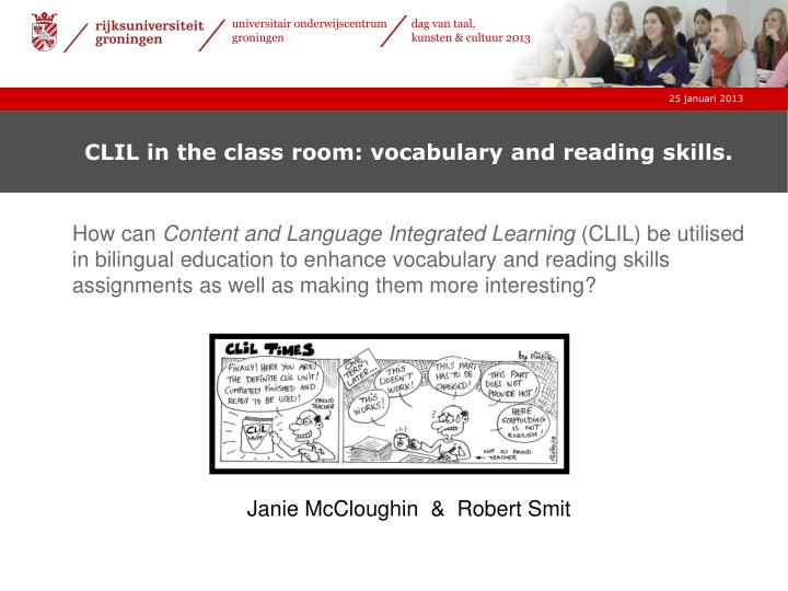 clil in the class room vocabulary and reading skills n.