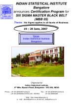 Organized by : Indian Statistical Institute, 8 th Mile, Mysore Road, Bangalore - 560 059, INDIA