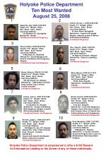 Holyoke Police Department Ten Most Wanted August 25, 2008
