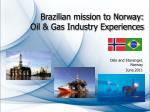 Brazilian mission to Norway: Oil & Gas Industry Experiences