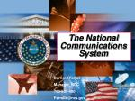 The National Communications System