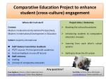 Comparative Education Project to enhance student (cross-culture) engagement