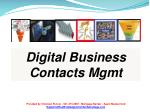 Digital Business Contacts Mgmt