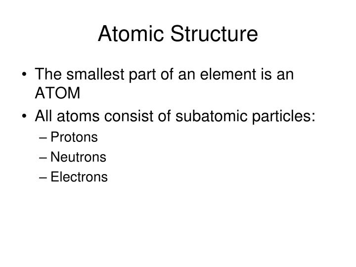 atomic structure n.
