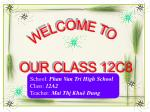 WELCOME TO OUR CLASS 12C8