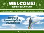 Welcome! success built to last