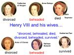 Henry VIII and his wives…