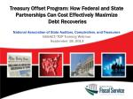 Treasury Offset Program: How Federal and State Partnerships Can Cost Effectively Maximize