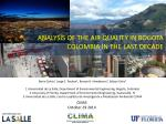 ANALYSIS OF THE AIR QUALITY IN BOGOTA COLOMBIA IN THE LAST DECADE