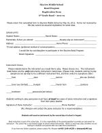 Skyview Middle School Band Program Registration Form 6 th Grade Band – 2012-13