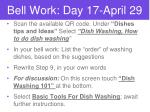 Bell Work: Day 17-April 29