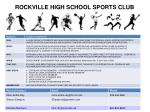ROCKVILLE HIGH SCHOOL SPORTS CLUB