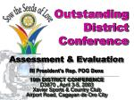 Outstanding  District  Conference