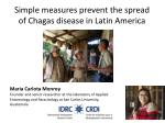 Simple measures prevent the spread of Chagas disease in Latin America