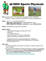 48 MDG Sports Physicals