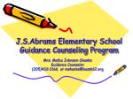 J.S.Abrams Elementary School Guidance Counseling Program