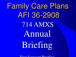 Family Care Plans    AFI 36-2908