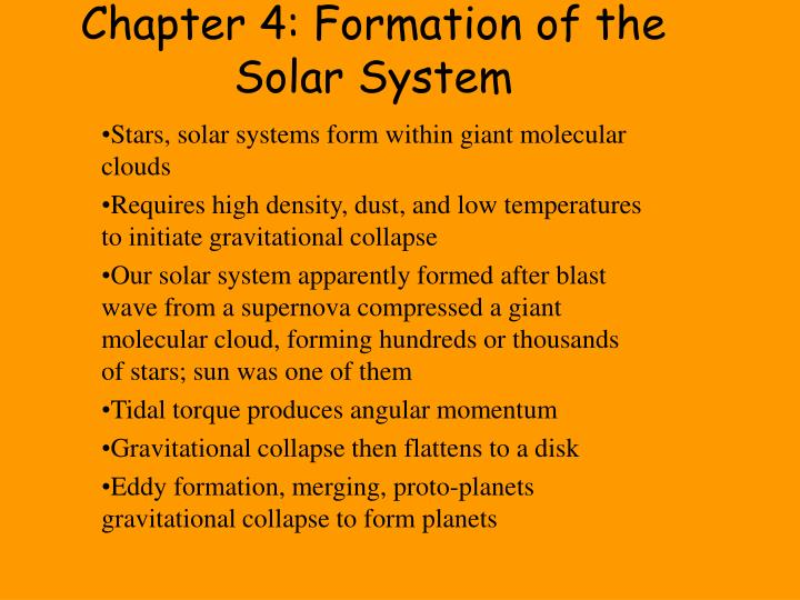 chapter 4 formation of the solar system n.
