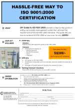 HASSLE-FREE WAY TO ISO 9001:2000 CERTIFICATION