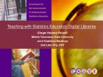 Teaching with Statistics Education Digital Libraries