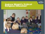 Andrew Wright's 'Critical Religious Education'