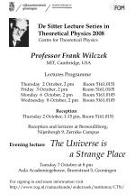 Lectures Programme