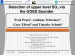 Detection of upper level SO 2 via the GOES Sounder