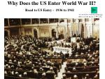 Why Does the US Enter World War II?