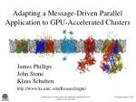 Adapting a Message-Driven Parallel Application to GPU-Accelerated Clusters