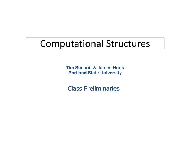 computational structures n.
