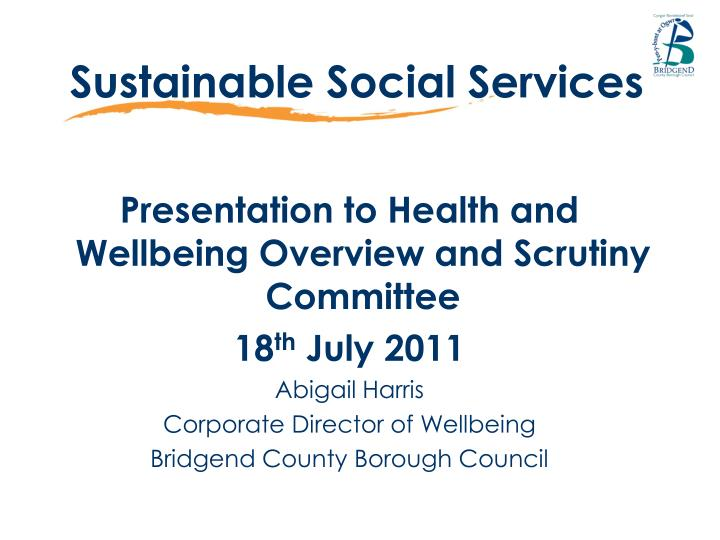 sustainable social services n.