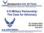 4-H Military Partnership: The Case for Advocacy