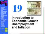 Introduction to Economic Growth Unemployment and Inflation