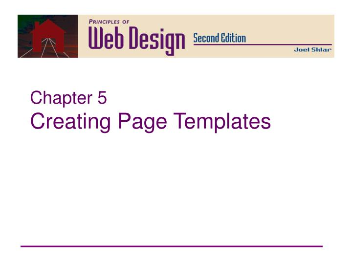 chapter 5 creating page templates n.