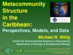 Metacommunity Structure in the Caribbean: Perspectives, Models, and Data