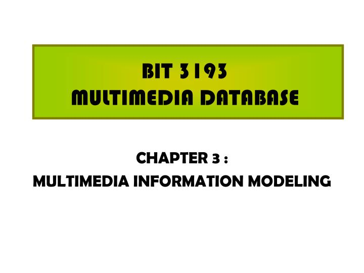 bit 3193 multimedia database n.