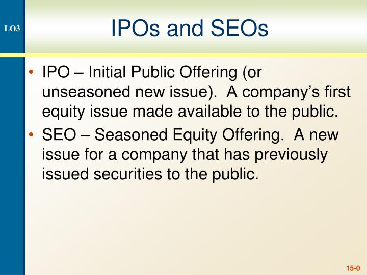 ipos and seos n.