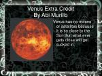 Venus Extra Credit By Abi Murillo