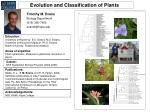 Evolution and Classification of Plants