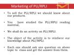 Marketing of PLI/RPLI
