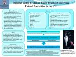 Imperial Valley Evidence-Based Practice Conference Enteral Nurtrition in the ICU