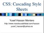 CSS: Cascading Style Sheets