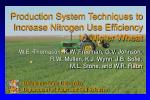 Production System Techniques to Increase Nitrogen Use Efficiency In Winter Wheat