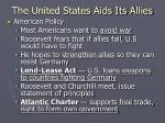 The United States Aids Its Allies