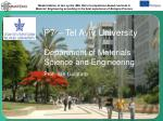 P7 – Tel Aviv University Department of Materials Science and Engineering