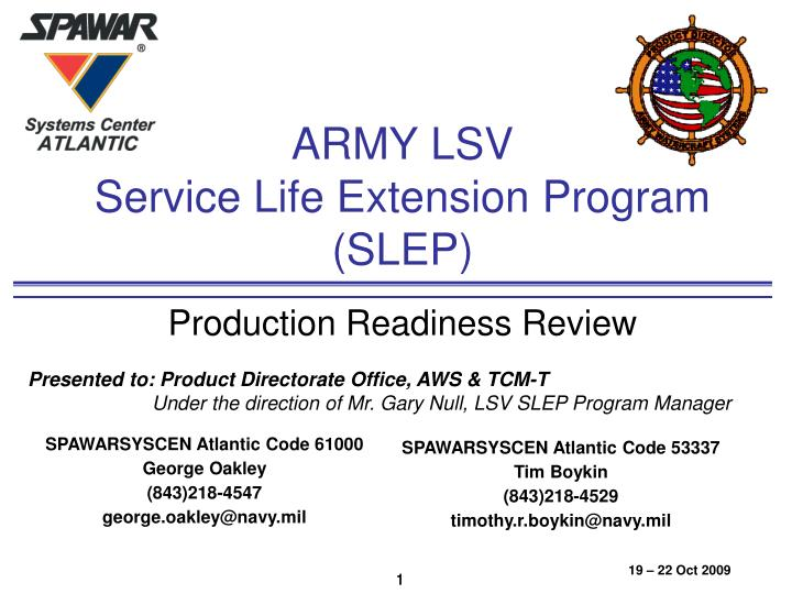 army lsv service life extension program slep n.