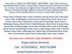 Home Tutor in South Ex, Defence Colony for Chemistry,Physics