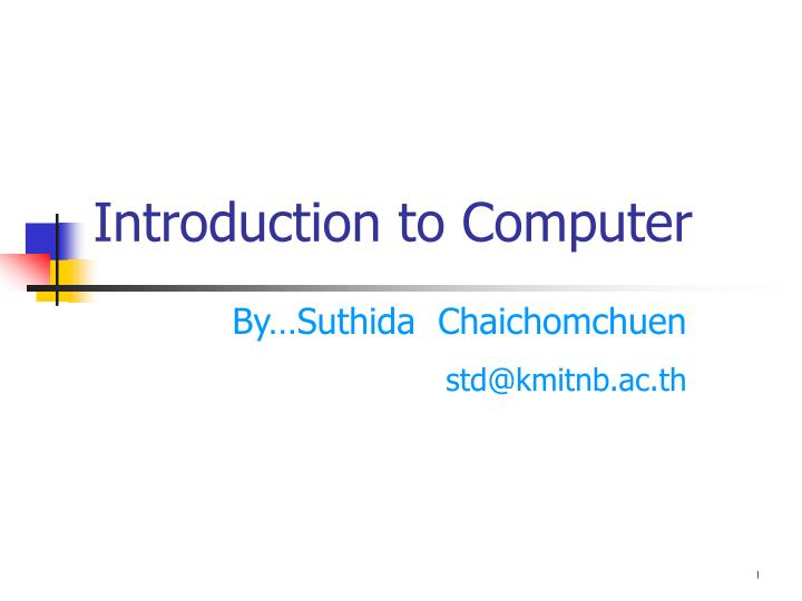 introduction to computer n.